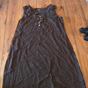 Dark Brown Cover Up Dress Large Women's Swim